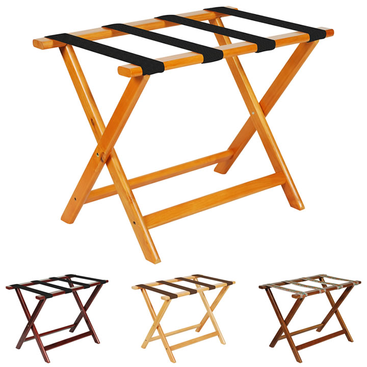 Hospitality Design Series Hardwood Luggage Racks